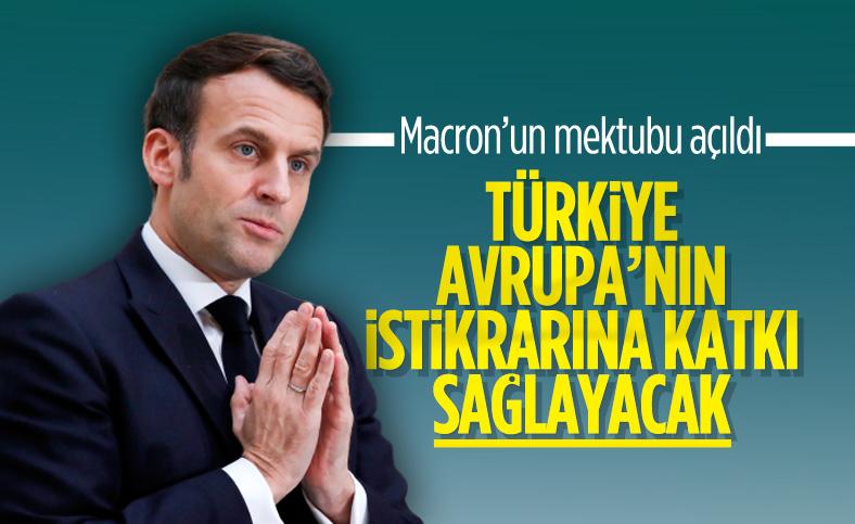 Macron: Türkiye Avrupa'nın istikrarına katkı sağlayacak
