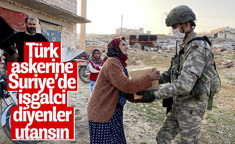 Mehmetçik'ten Suriye'de ihtiyaç sahiplerine kıyafet ve gıda yardımı