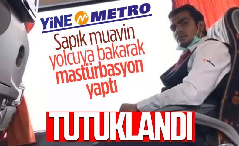Metro Turizm muavini yolcu kıza bakarak mastürbasyon yaptı