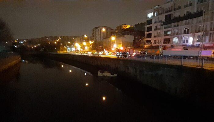 Polisin 'dur' ihtarına uymayan 2 kişi panelvan ile su kanalına uçtu