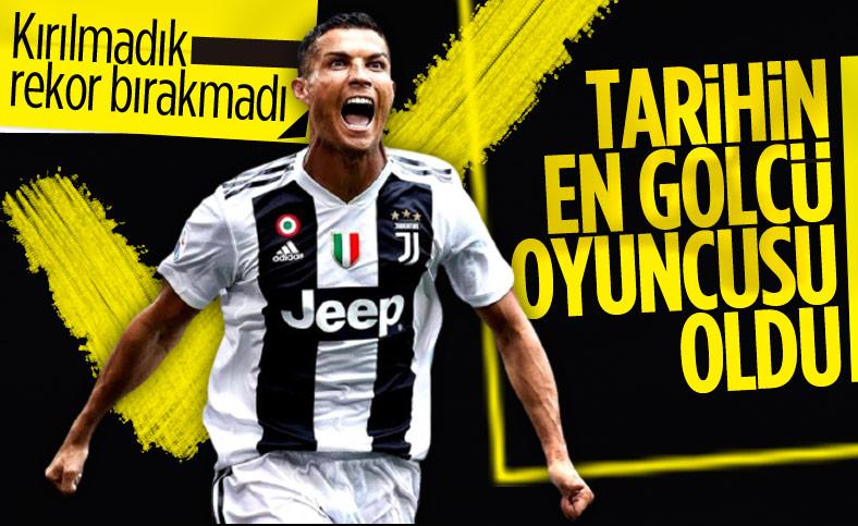 Ronaldo tarihin en golcü oyuncusu oldu