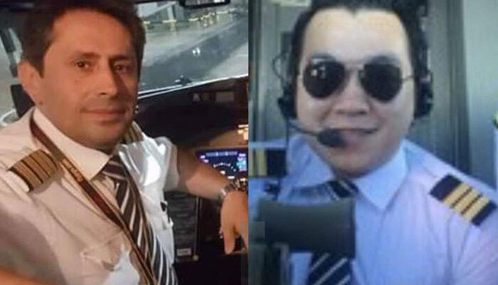 Sabiha Gökçen'de kaza yapan Pegasus uçağının pilotlarının fotoğrafları ortaya çıktı