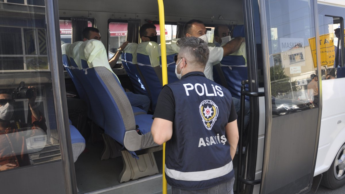 Tekirdağ'da polisten maske ve korona seferberliği