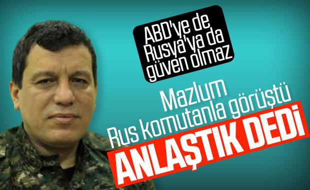 Terörist Mazlum Kobani, Rus komutanla görüştü