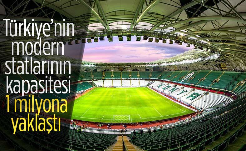 Türkiye'nin yeni ve modern stadyumları göz dolduruyor
