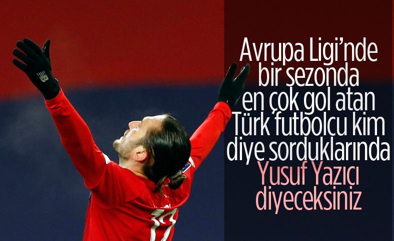Yusuf Yazıcı Avrupa Ligi'nde bir sezonda en çok gol atan Türk oldu