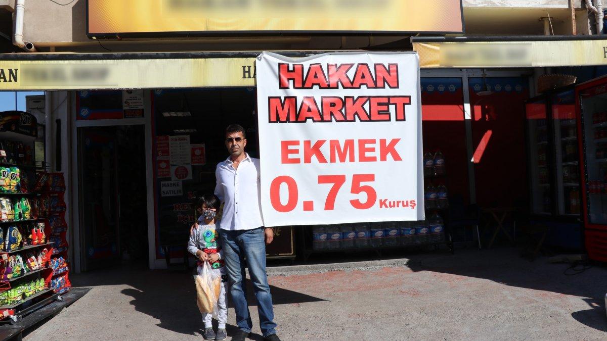 Zonguldak'ta ekmeği 0,75 kuruştan satan mahalle bakkalı vatandaşları mutlu etti