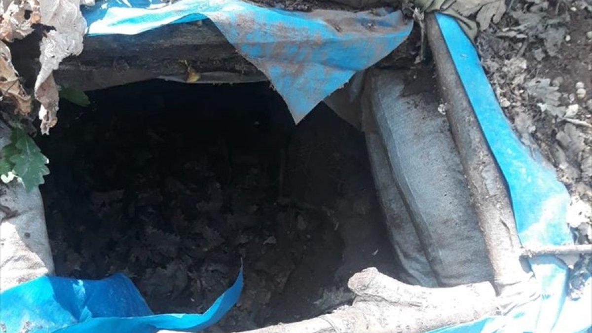 Tunceli'de tespit edilen 7 terörist sığınağı yok edildi