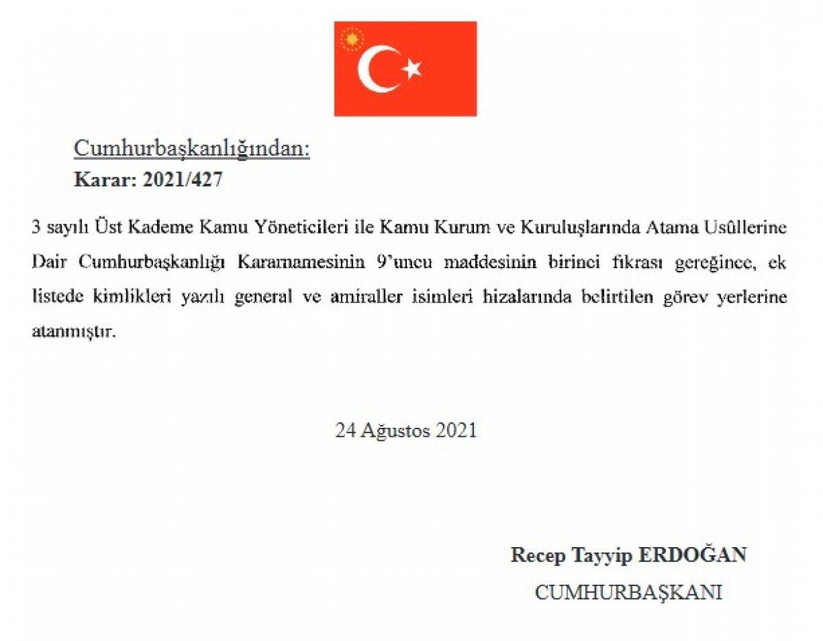 Türk Silahlı Kuvvetleri nde yeni atamalar Resmi Gazete de #6