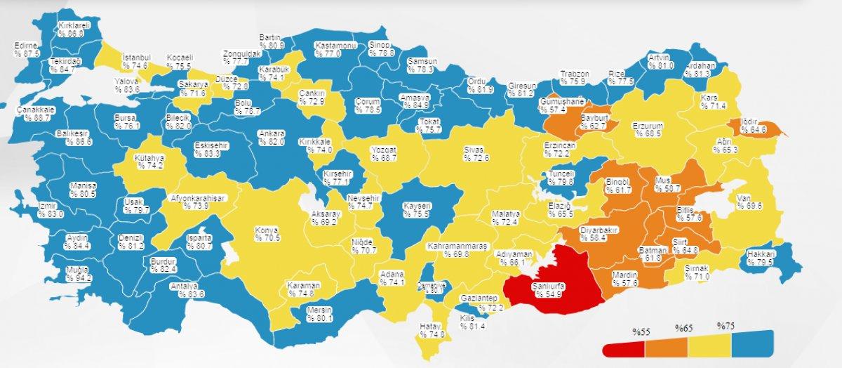 Türkiye korona haritasında kırmızı il kalmadı #1
