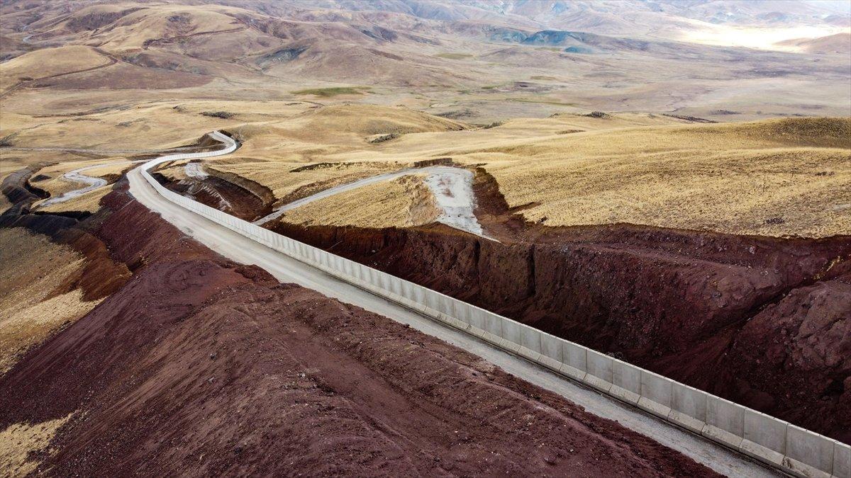 Van ile İran sınırına yapılan güvenlik duvarı, 20 kilometreye ulaştı #8